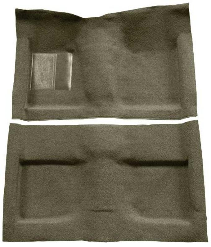 OER 1964 Mustang Convertible Passenger Area Loop Floor Carpet Set with Mass Backing - Ivy Gold A4032B09