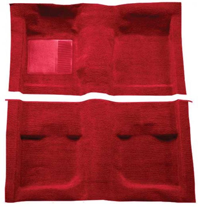 OER 1971-73 Mustang Coupe / Fastback Passenger Area Nylon Loop Floor Carpet - Medium Red A4057A92