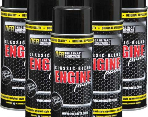 OER Classic Blend Gray Primer Engine Paint - Case of 6 16 Oz Cans *K89261