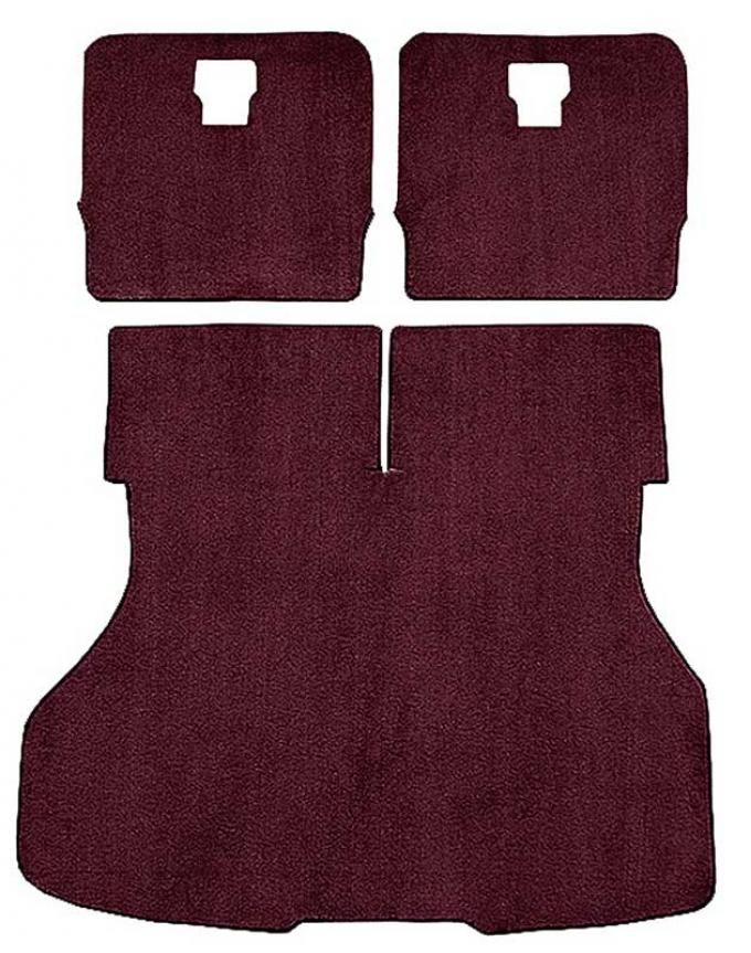 OER 1983-86 Mustang Hatchback Rear Cargo Area Cut Pile Carpet Set with Mass Backing - Maroon A4024B15