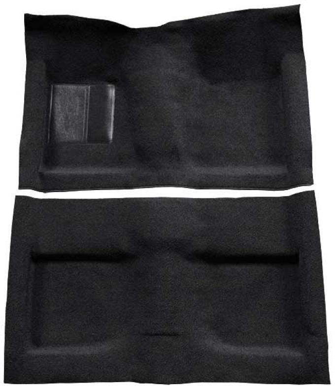 OER 1964 Mustang Convertible Passenger Area Loop Floor Carpet Set - Black A4032A01