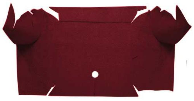 OER 1967-68 Mustang Convertible Nylon Loop Carpet Trunk Mat - Maroon A4081A15