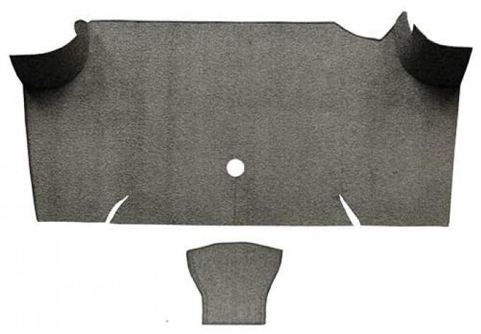OER 1967-68 Mustang Fastback Loop Carpet Trunk Mat - Parchment A4068A07