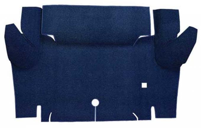 OER 1965-66 Mustang Convertible Loop Carpet Trunk Floor Mat - Dark Blue A4052A12