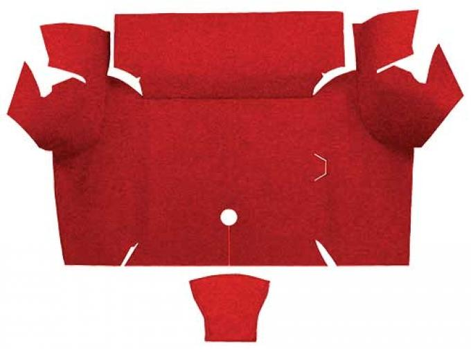 OER 1967-68 Mustang Coupe Loop Carpet Trunk Mat - Red A4060A02