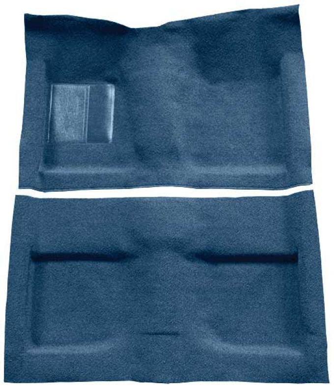 OER 1964 Mustang Convertible Passenger Area Loop Floor Carpet Set with Mass Backing - Ford Blue A4032B62