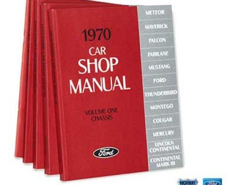 OER 1970 Ford/Lincoln/Mercury Shop Manual Set - Five Volumes L12-CM