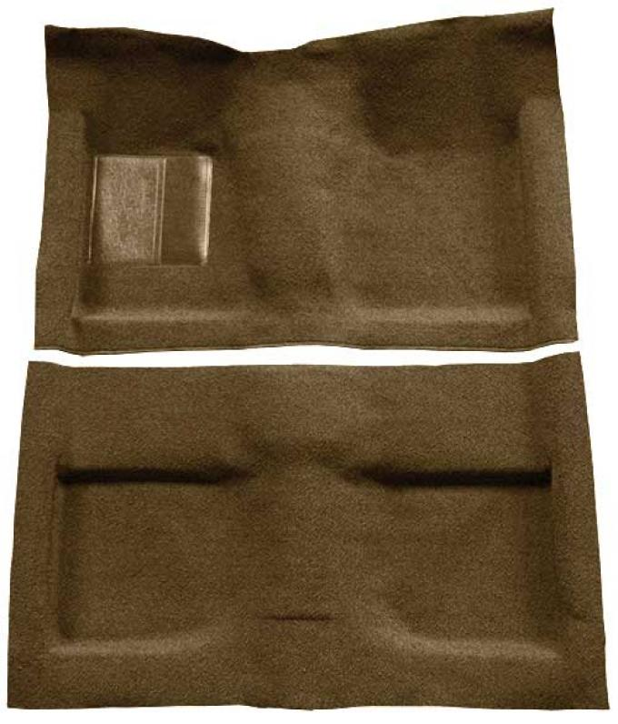 OER 1964 Mustang Convertible Passenger Area Loop Floor Carpet Set with Mass Backing - Medium Saddle A4032B69