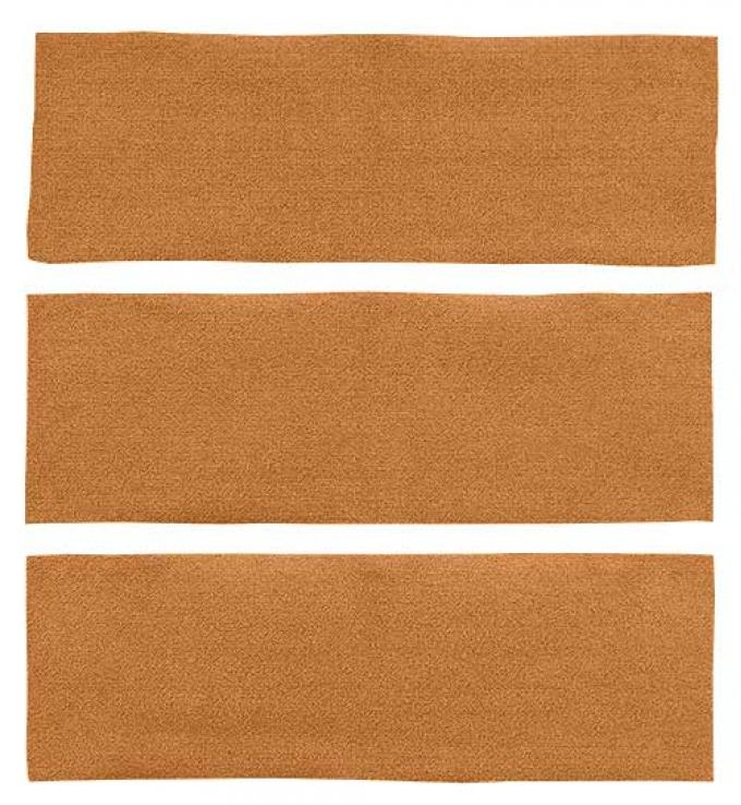OER 1969-70 Mustang Fastback Nylon Loop 3 Piece Fold Down Carpet Set - Medium Saddle A4041A69