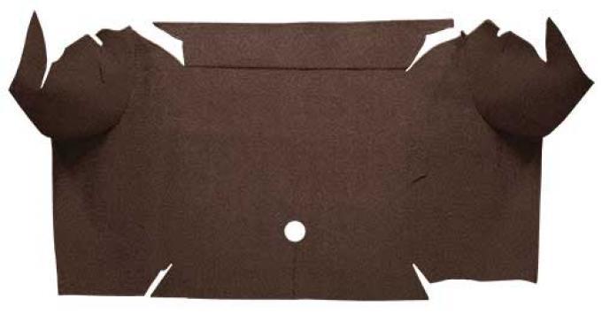 OER 1967-68 Mustang Convertible Loop Carpet Trunk Mat - Dark Brown A4064A30