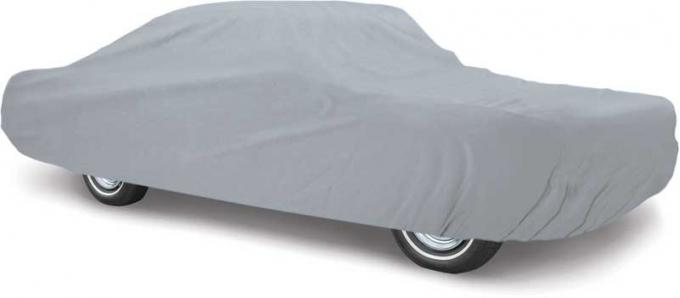 OER 1999-04 Mustang Coupe & Convertible Weather Blocker Plus Gray Car Cover - Four Layers For Outdoor Use MT8913GGR