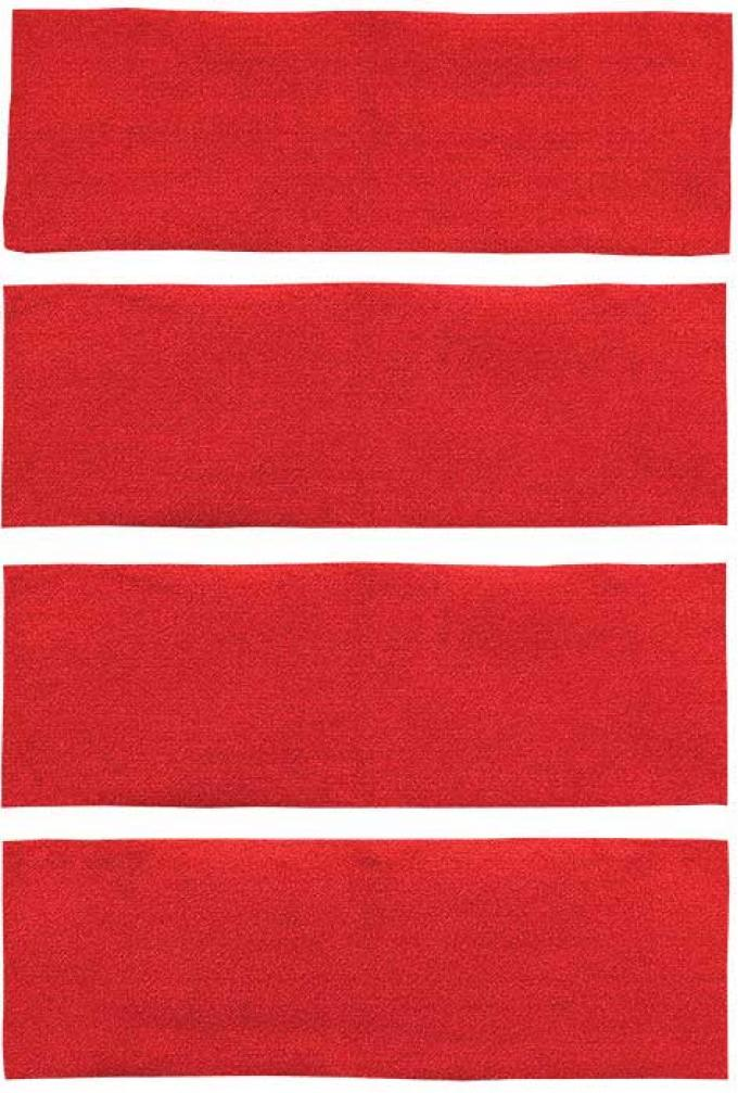OER 1971-73 Mustang Fastback 4 Piece Nylon Loop Fold Down Carpet Set - Red A4043A02