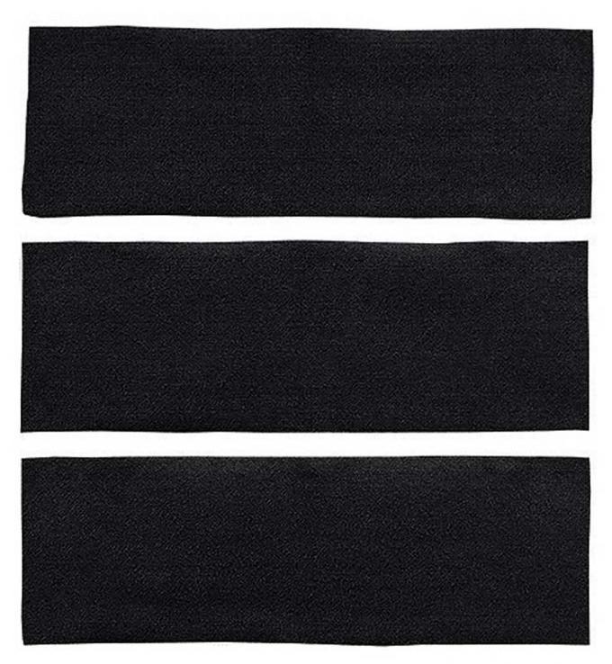 OER 1964-68 Mustang Fastback 3 Piece Fold Down Nylon Loop Carpet Set - Black A4039A01