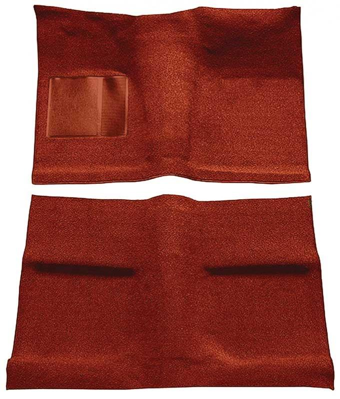 OER 1964 Mustang Coupe Passenger Area Nylon Loop Floor Carpet Set with Mass Backing - Emberglow A4031B49