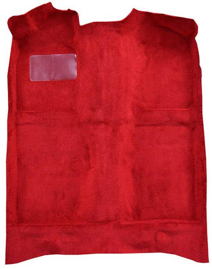 OER 1979-81 Mustang Passenger Area Cut Pile Molded Floor Carpet with Mass Backing - Red A4020B02