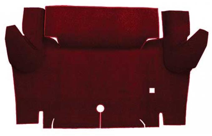 OER 1965-66 Mustang Coupe Loop Trunk Floor Carpet Mat - Maroon A4048A15