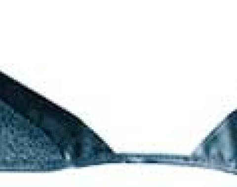 OER 1965-68 Mustang Convertible Loop Carpet Kick Panel Inserts - Medium Blue A4072A41