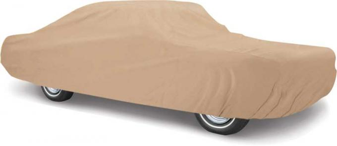 OER 1971-73 Mustang Coupe & Convertible Weather Blocker Plus Tan Car Cover - Four Layers For Outdoor Use MT8904GTN