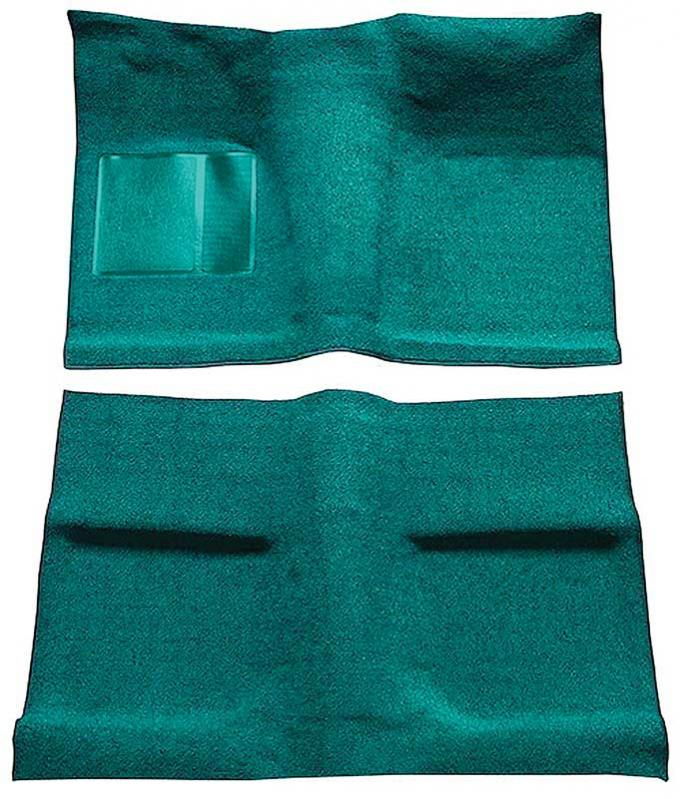 OER 1964 Mustang Coupe Passenger Area Nylon Loop Floor Carpet Set with Mass Backing - Aqua A4031B06