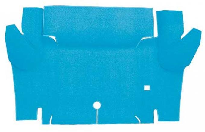 OER 1965-66 Mustang Coupe Nylon Loop Carpet Trunk Mat - Light Blue A4065A31