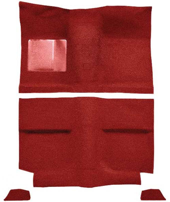 OER 1964 Mustang Fastback without Folddowns Loop Floor Carpet with Mass Backing - Red A4034B02