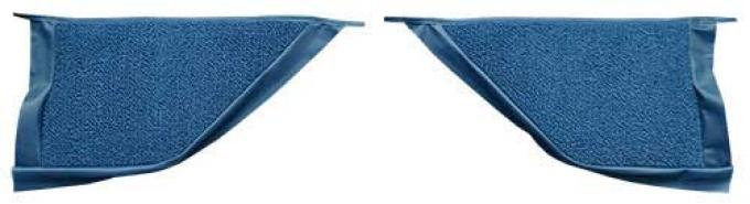 OER 1965-68 Mustang Coupe Loop Carpet Kick Panel Inserts - Ford Blue A4070A62
