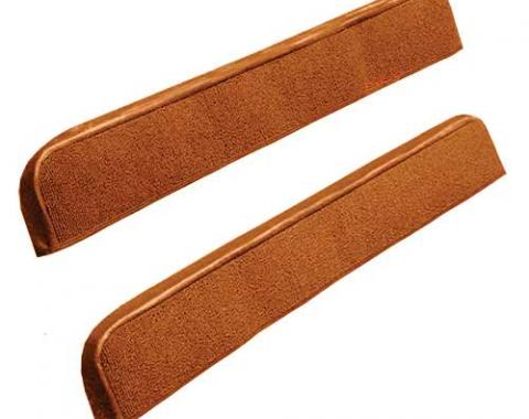 OER 1971-73 Mustang Door Panel Carpet Inserts - Medium Saddle A4097A69