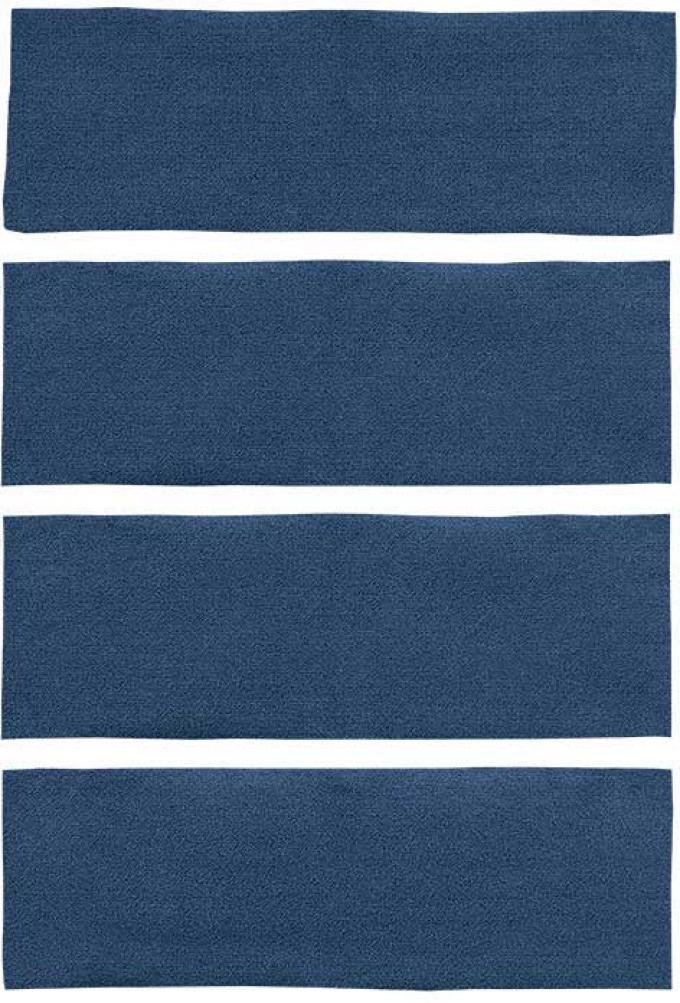 OER 1971-73 Mustang Fastback 4 Piece Nylon Loop Fold Down Carpet Set - Dark Blue A4043A12