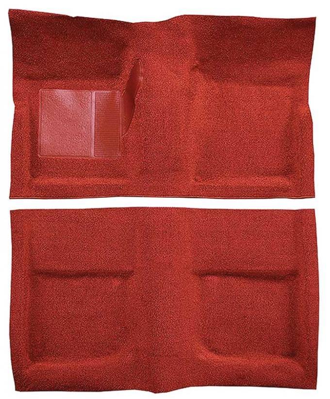 OER 1965-68 Mustang Coupe Passenger Area Nylon Loop Floor Carpet Set with Mass Backing - Red A4045B02
