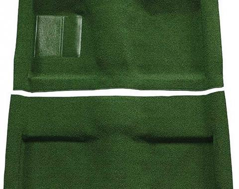 OER 1964 Mustang Convertible Passenger Area Nylon Loop Floor Carpet Set - Green A4033A39
