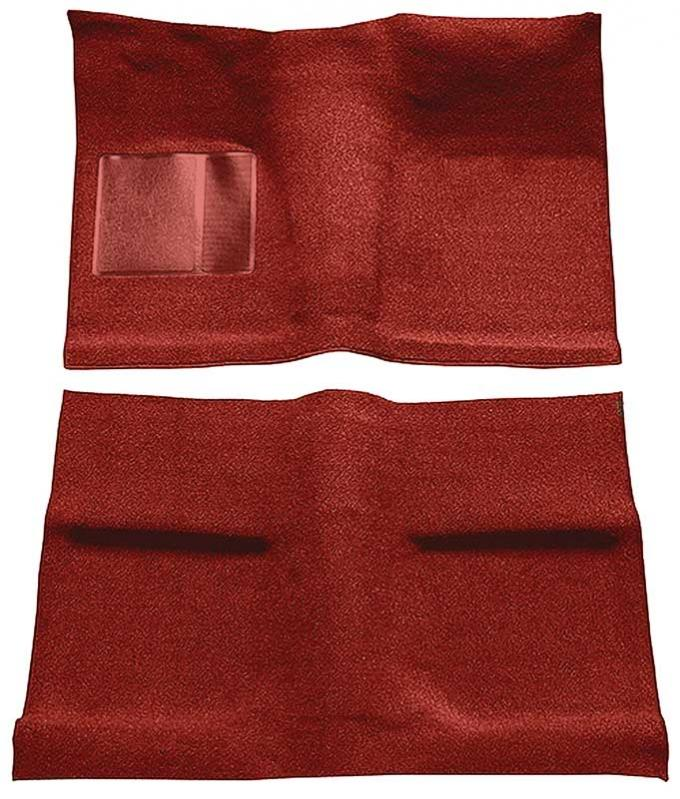 OER 1964 Mustang Coupe Passenger Area Nylon Loop Floor Carpet Set with Mass Backing - Red A4031B02