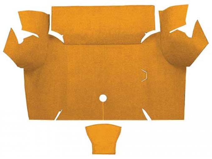 OER 1967-68 Mustang Coupe Nylon Loop Carpet Trunk Mat - Medium Saddle A4077A69