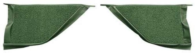 OER 1965-68 Mustang Coupe Loop Carpet Kick Panel Inserts - Moss Green A4070A19