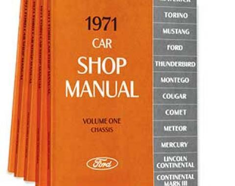 OER 1971 Ford/Lincoln/Mercury Shop Manual Set - Five Volumes L13-CM