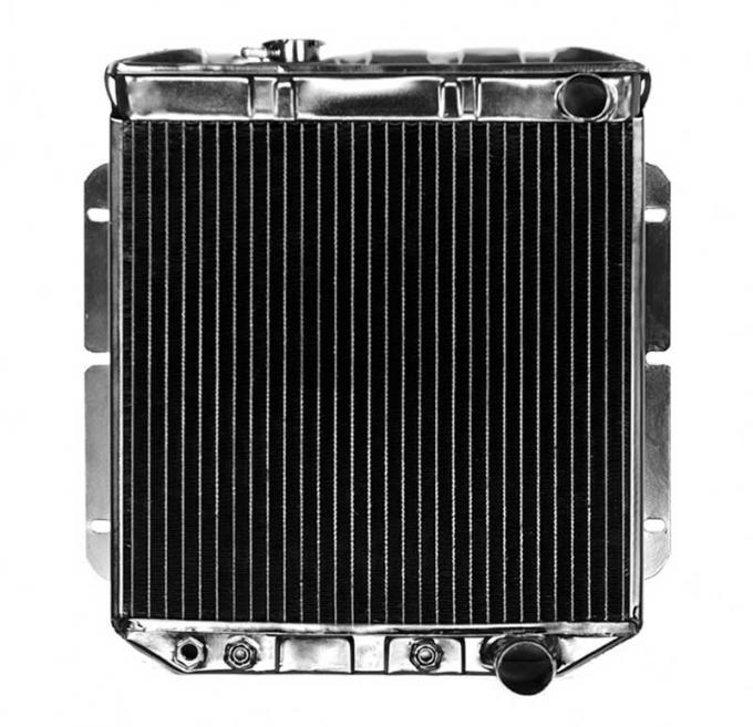 OER 1964-66 Mustang L6 With Auto Trans 4 Row Copper/Brass Radiator CRD5103A