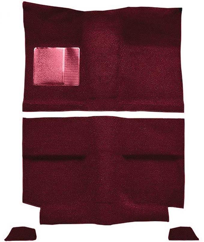 OER 1964 Mustang Fastback without Folddowns Passenger Area Nylon Loop Floor Carpet - Maroon A4035A15