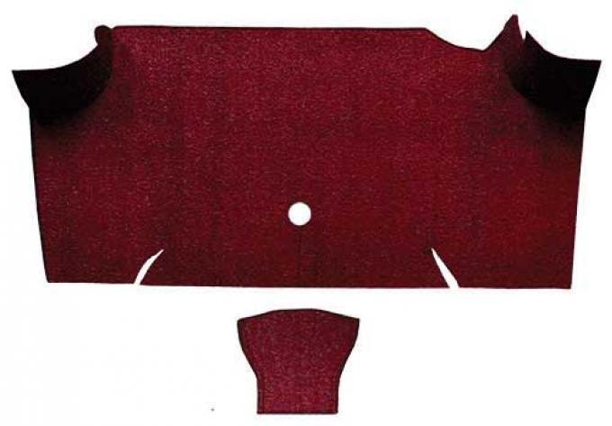 OER 1967-68 Mustang Fastback Loop Carpet Trunk Mat - Maroon A4068A15