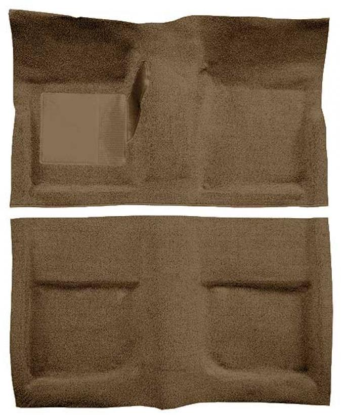 OER 1965-68 Mustang Coupe Passenger Area Loop Floor Carpet - Medium Saddle A4040A69