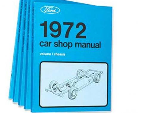 OER 1972 Ford/Lincoln/Mercury Shop Manual Set - Five Volumes L14-CM