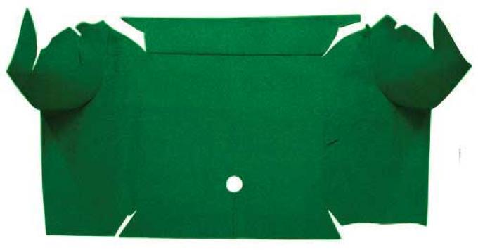 OER 1967-68 Mustang Convertible Nylon Loop Carpet Trunk Mat - Green A4081A39