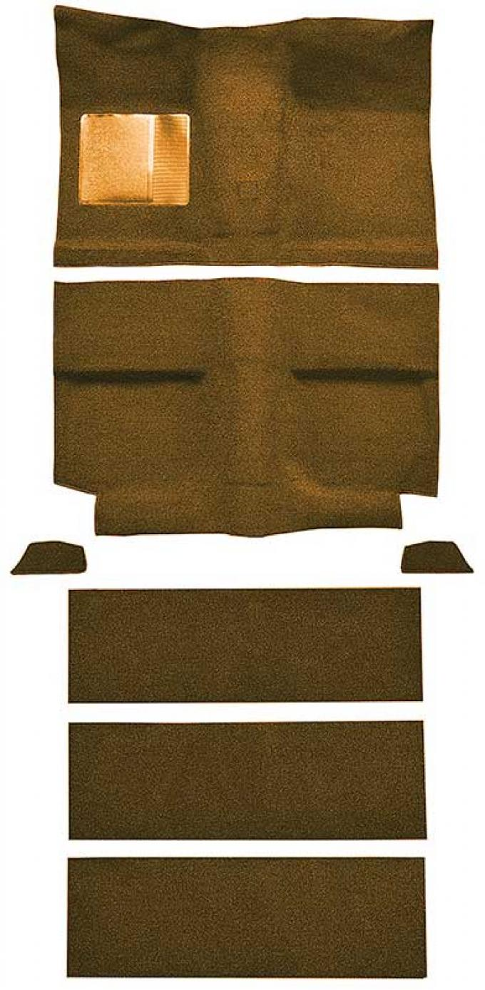 OER 1964 Mustang Fastback with Folddowns Passenger Area Nylon Loop Floor Carpet Set - Green A4037A39