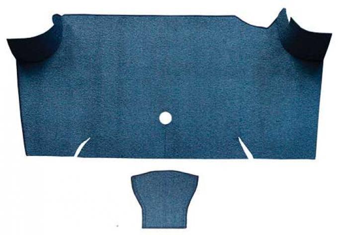OER 1967-68 Mustang Fastback Loop Carpet Trunk Mat - Medium Blue A4068A41