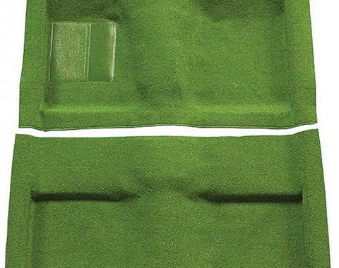 OER 1964 Mustang Convertible Passenger Area Nylon Loop Floor Carpet Set with Mass Backing - Moss Green A4033B19