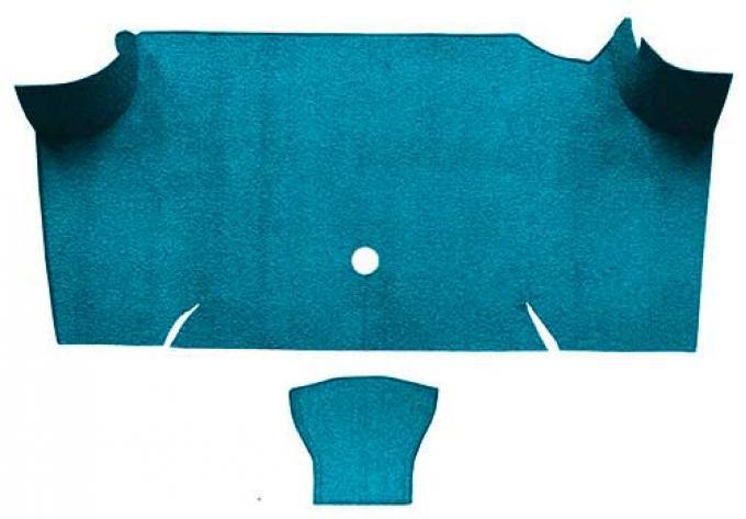 OER 1967-68 Mustang Fastback Nylon Loop Carpet Trunk Mat - Aqua A4085A06