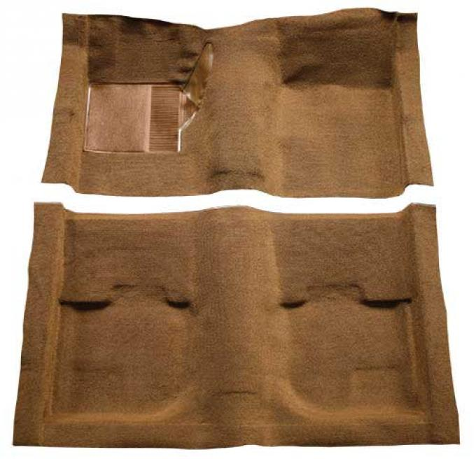 OER 1969-70 Mustang Fastback Nylon Loop Carpet without Fold Downs, with Mass Backing - Ginger A4051B29