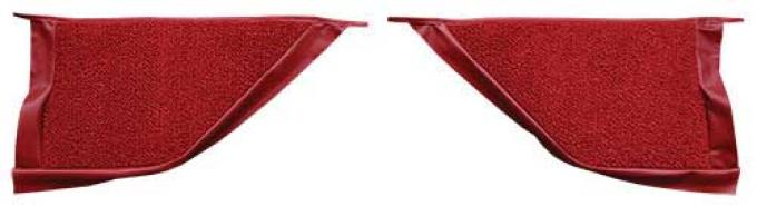 OER 1965-68 Mustang Coupe Loop Carpet Kick Panel Inserts - Red A4070A02