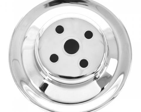 "ACP Water Pump Pulley 2-Groove 5 13/16"" Diameter Chrome FM-EP002A"